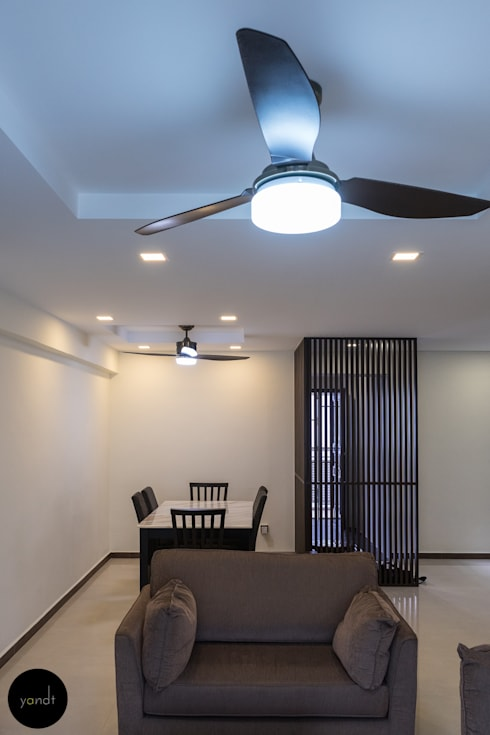 False ceiling : asian Dining room by Y&T Pte Ltd