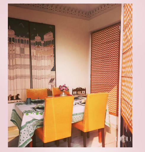 PROJECTS DELIVERED BY KOTRI: mediterranean Dining room by Devyani Kumari Lifestyle & Designs