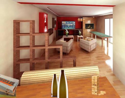 Sala de Juegos: Salas de estilo moderno por Perfil Arquitectónico