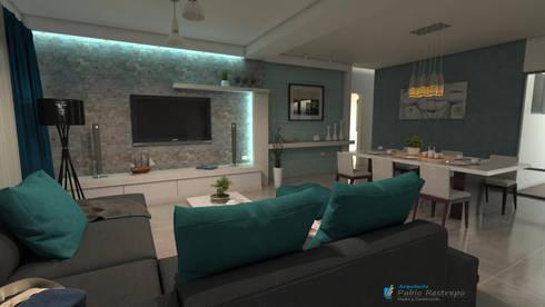 Diseño interior - Sala: Sala multimedia de estilo  por Arquitecto Pablo Restrepo