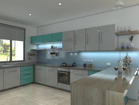 Diseño interior cocina: Cocina de estilo  por Arquitecto Pablo Restrepo