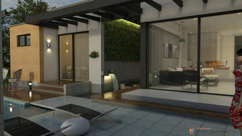 Zona húmeda - ambiente social: Paredes de estilo  por Arquitecto Pablo Restrepo