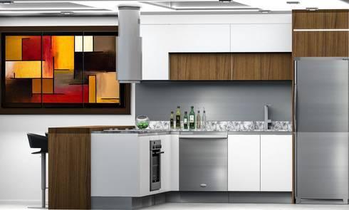 Cocina de Suites: Restaurantes de estilo  por Arq. Gustavo García
