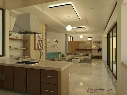 Diseño interior: Comedores de estilo moderno por Arquitecto Pablo Restrepo