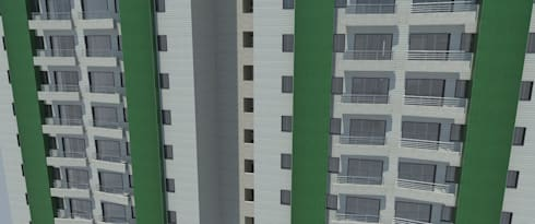 Fachada - Materiales: Casas de estilo  por Atahualpa 3D