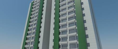 Fachada Principal: Casas de estilo  por Atahualpa 3D