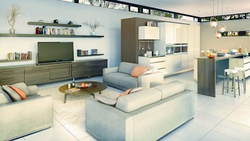 Bach Village—Monaghan Farm: modern Living room by REIS