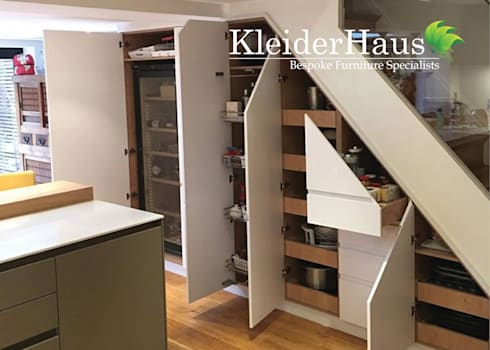 Made to measure fitted kitchen under stairs unit by for Kitchen units under stairs