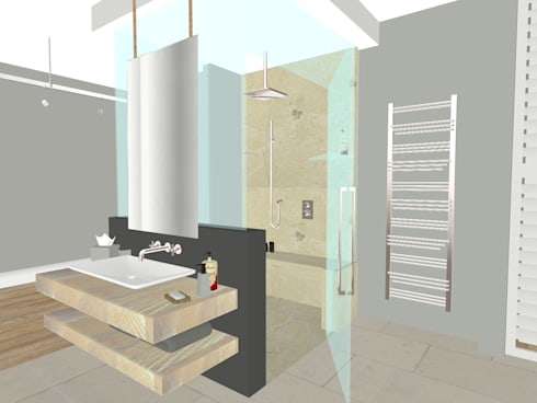 House N: modern Bathroom by Kirsty Badenhorst Interiors