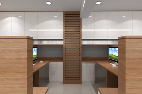 Staff Area: modern Study/office by Mah-Dee group