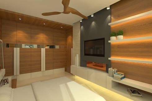 Modern Residence: modern Bedroom by Mah-Dee group