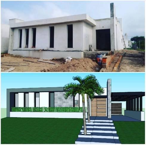 Dise o de viviendas de losada arquitectura homify for Casa minimalista 120m2