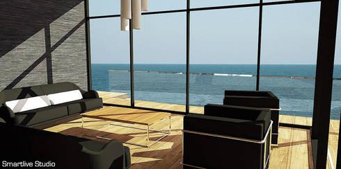 Living con vista al océano: Livings de estilo moderno por Smartlive Studio