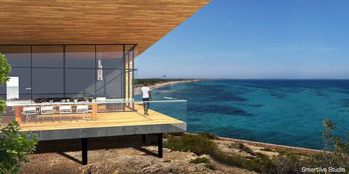 Terraza : Casas de estilo moderno por Smartlive Studio