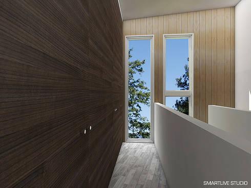 Proyecto Inmobiliario Refugio Alma : Walk in closet de estilo  por Smartlive Studio