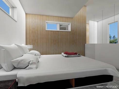 Proyecto Inmobiliario Refugio Alma : Dormitorios de estilo moderno por Smartlive Studio