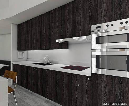 Proyecto Inmobiliario Refugio Alma : Cocinas de estilo moderno por Smartlive Studio