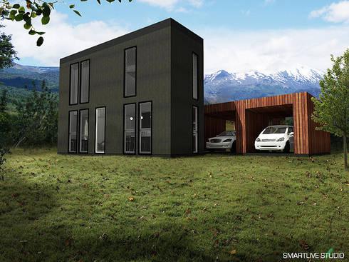 Proyecto Inmobiliario Refugio Alma : Casas de estilo moderno por Smartlive Studio