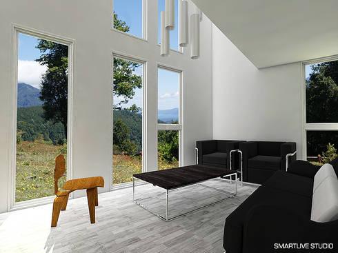 Proyecto Inmobiliario Refugio Alma : Livings de estilo moderno por Smartlive Studio
