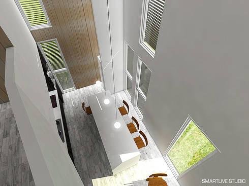 Proyecto Inmobiliario Refugio Alma : Comedores de estilo moderno por Smartlive Studio