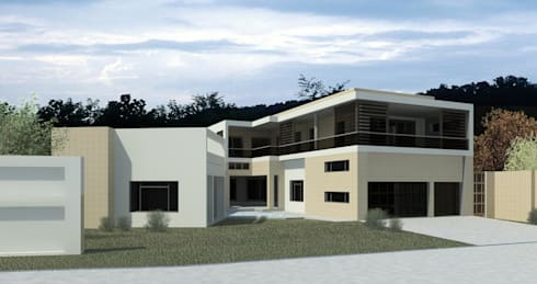House in Edenvale - option 2:   by Essar Design