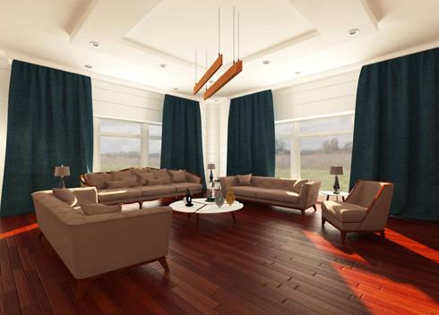 Living Room:  غرفة المعيشة تنفيذ OS Line