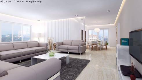 3D Designs By Mirva Vora Designs.: modern Living room by Mirva Vora Designs