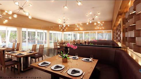 3D Designs By Mirva Vora Designs.: modern Dining room by Mirva Vora Designs