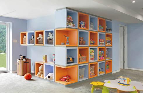 modern Nursery/kid's room by Eisner Design
