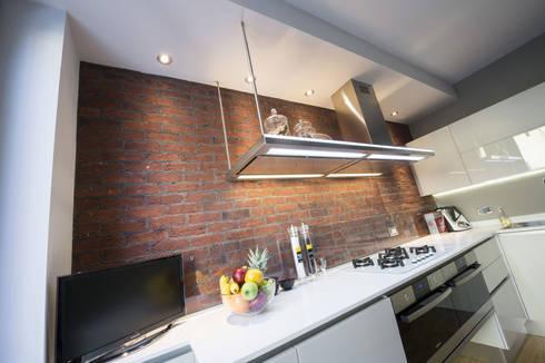 Una cucina in stile industriale con i mattoni faccia a vista Genesis ...