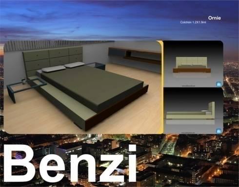 Camas y Dormitorios: Dormitorios de estilo  por Domicilio