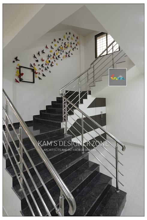 Wall Design :  Walls & flooring by KAM'S DESIGNER ZONE