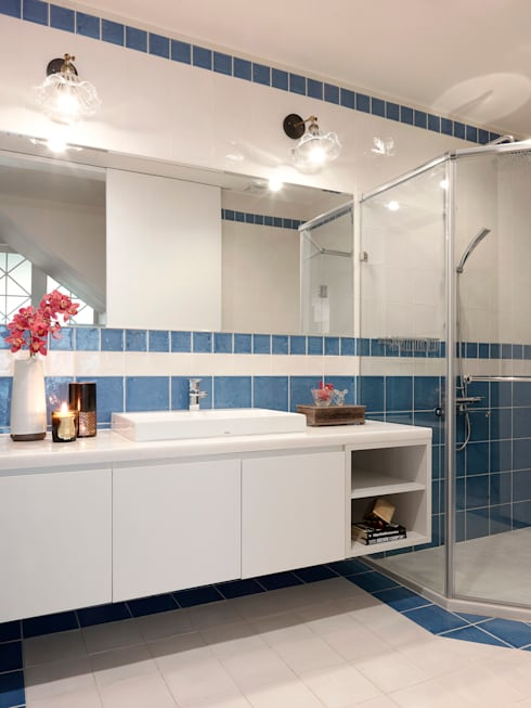| L&C 住宅 |:  浴室 by 賀澤室內設計 HOZO_interior_design