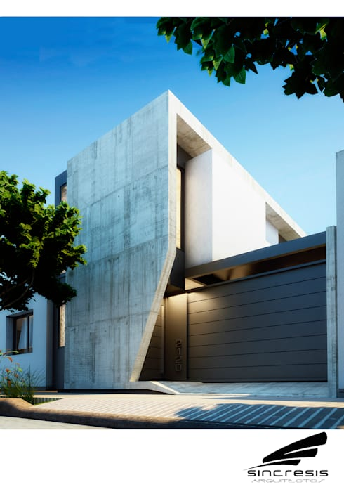 Vivienda AS2: Casas de estilo  por síncresis arquitectos