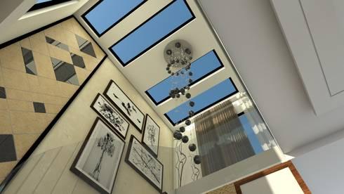 Staircase ceiling:   by Ar. Ananya Agarwal
