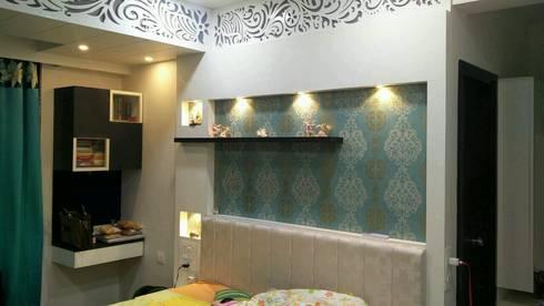 Bedroom view:   by Ar. Ananya Agarwal