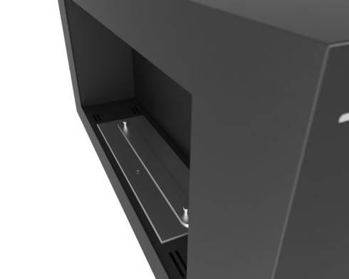 Biokominek Blackbox 910: styl , w kategorii Salon zaprojektowany przez Hanoo