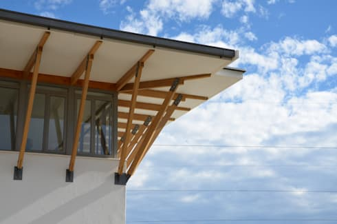 roof detail:  Office buildings by Till Manecke:Architect