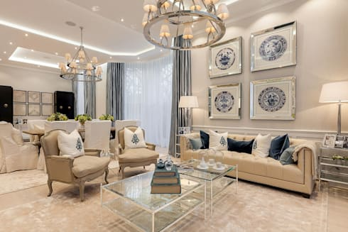 House renovation in Holland park: modern Living room by APT Renovation Ltd