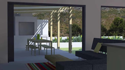outdoor lounge:  Patios by Till Manecke:Architect
