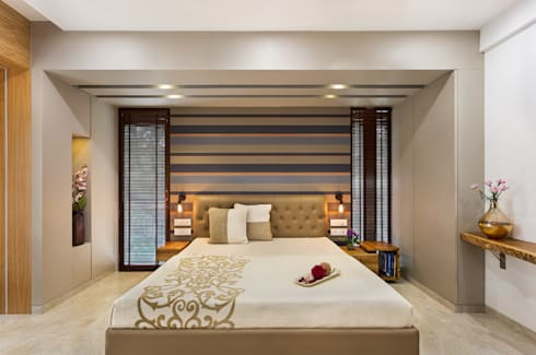 Master Bedroom: modern Bedroom by The design house