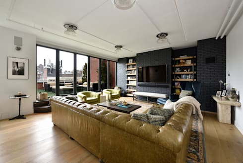 Renovation at 7 Wooster: modern Living room by KBR Design and Build