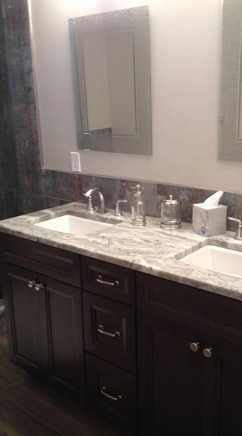 Basking Ridge Basement Bar!: classic Bathroom by Kitchen Krafter Design/Remodel Showroom
