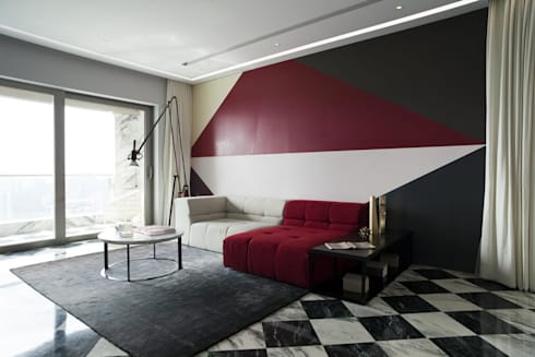 Living Room: modern Living room by Sergio Mannino Studio