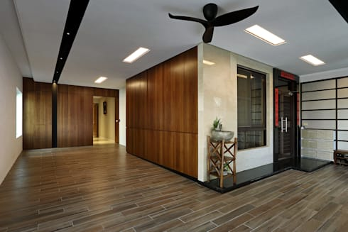 Taiwan  Taichung - J House:  房子 by 信美室內裝修