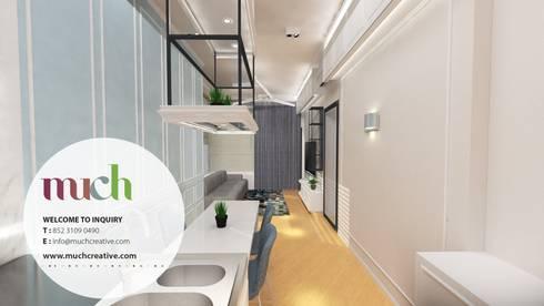 西營盤 Bohemian House 瑧璈: eclectic Living room by Much Creative Communication Limited