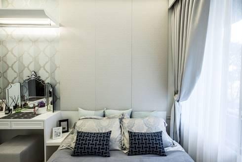 床頭收納:  臥室 by 你你空間設計