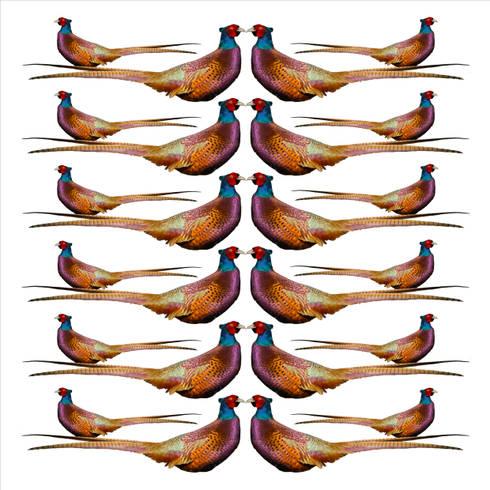 Pheasants Wallpaper:  Walls & flooring by Lomas & Lomas