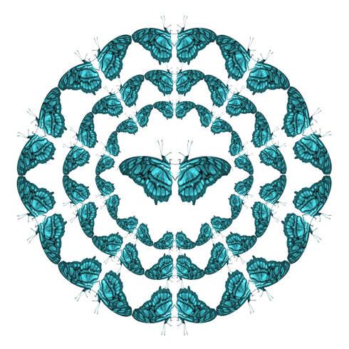 Dancing Butterflies Wallpaper:  Walls & flooring by Lomas & Lomas