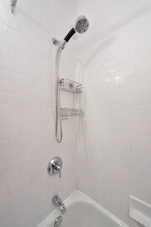 Renovation at 29 Tiffany : industrial Bathroom by KBR Design and Build